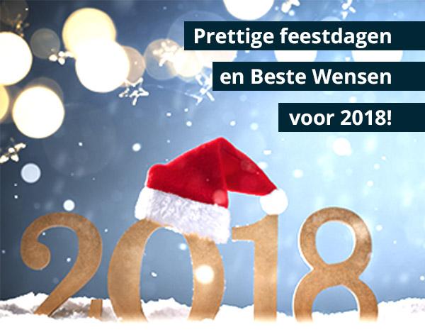 Spetterende feestdagen en beste wensen voor 2018!