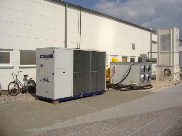Mobile Hallenklimatisierung in Druckerei