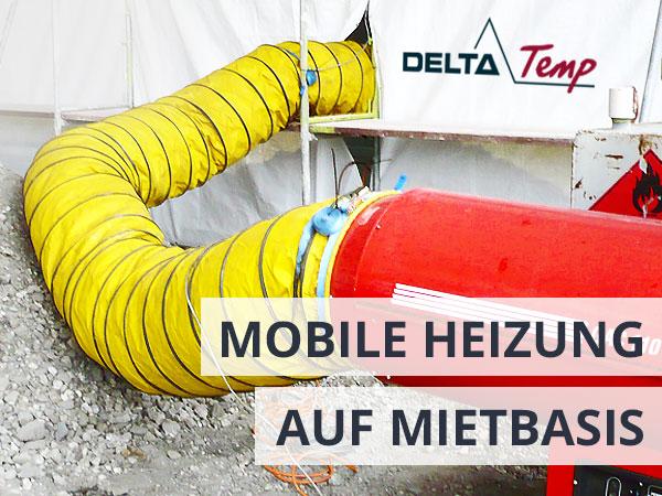 Mobile Baubeheizung auf Mietbasis - Heizung mieten