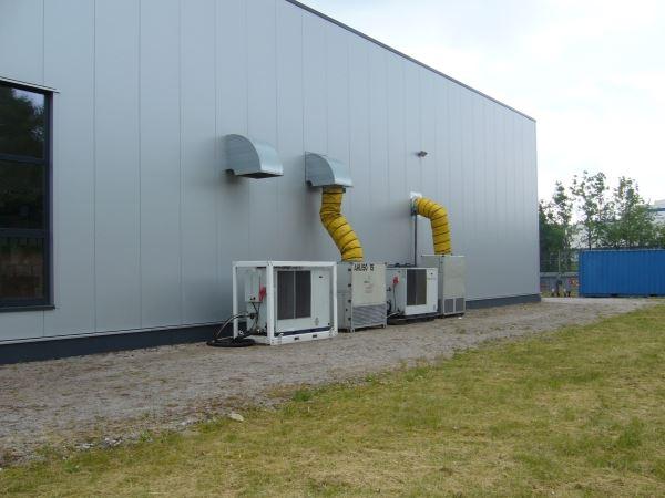 Mobiles Klima für Schleiftechnik