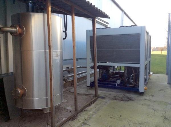 Luchtgekoelde ijswatermachine voor brouwerij