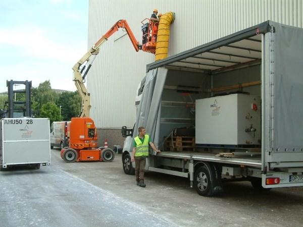 Climatisation mobile pour plaques de plâtre
