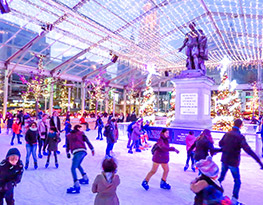 Nos patinoires: l'attraction supérieure sur chaque marché de Noël