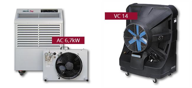 Nieuwe airco-toestellen beschikbaar