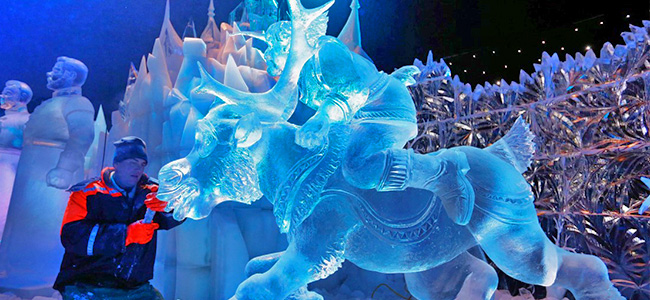 Ijssculpturenfestival ICE MAGIC - Linz