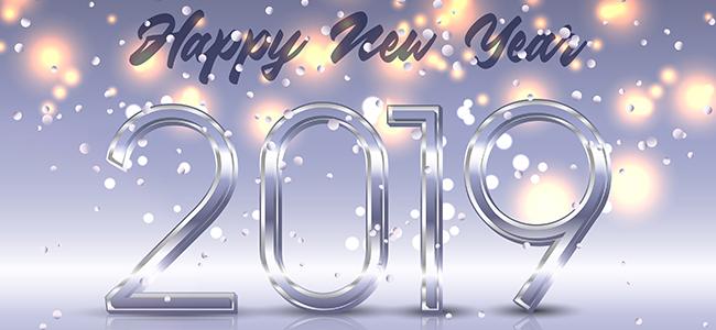 Beste wensen voor het nieuwe jaar 2019!