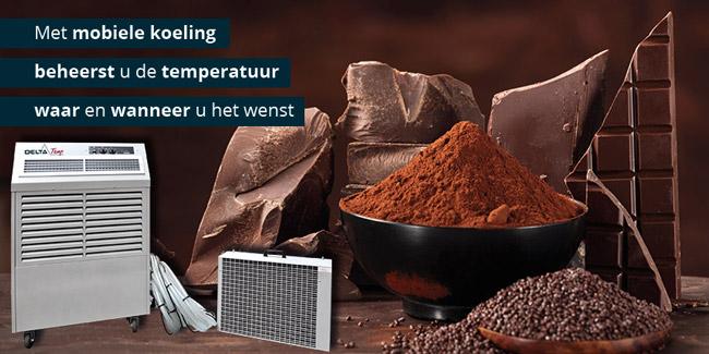 Industriële koeling voor chocolade bewaren