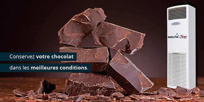 Refroidissement pour le Chocolat