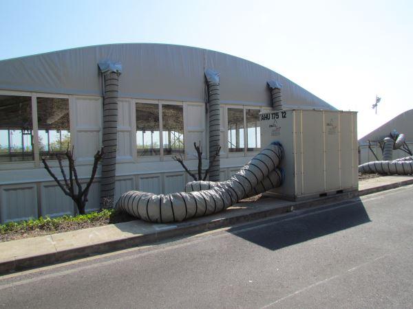 Mobile Klimaanlage für Zelte gemietet