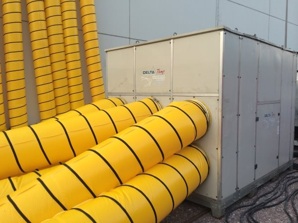 Mobile Klimapakete für Logistik-Standorte