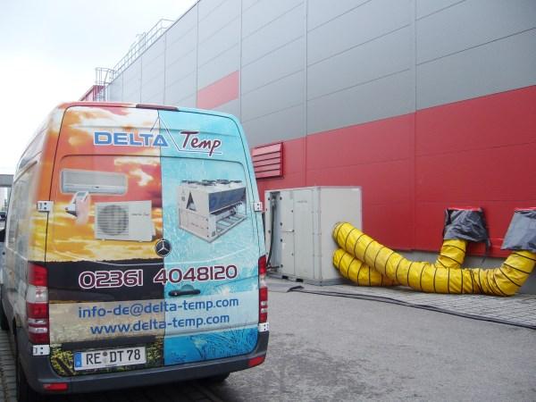 Zwei Megawatt mobile Hallenklimatisierung