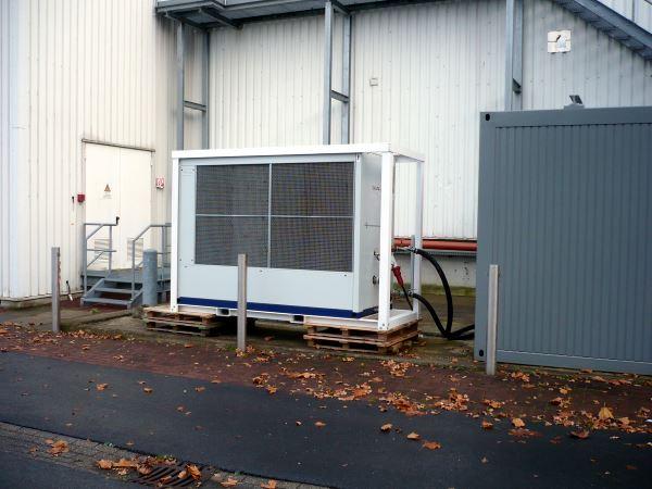 Mobiler Industriekühler bei Umbaumaßnahme