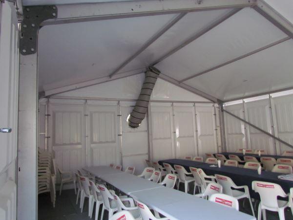 """Mobile Zeltheizung für """"Schulungscenter"""""""